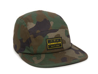 Trailhead Woven Label Patch Cap Camo Front Left View