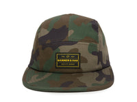 Trailhead Woven Label Patch Cap Camo Front View