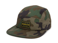 Trailhead Woven Label Patch Cap Camo Front Right View