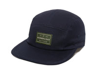 Trailhead Woven Label Patch Cap Navy Front Right View