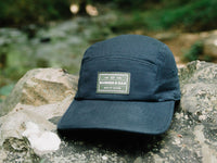 Trailhead Woven Label Patch Cap Navy Lifestyle Image