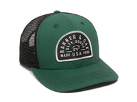Vista Scout Patch Snapback Trucker Hat Hunter Green Front Left View