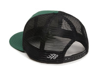 Vista Scout Patch Snapback Trucker Hat Hunter Green Logo Side Hit