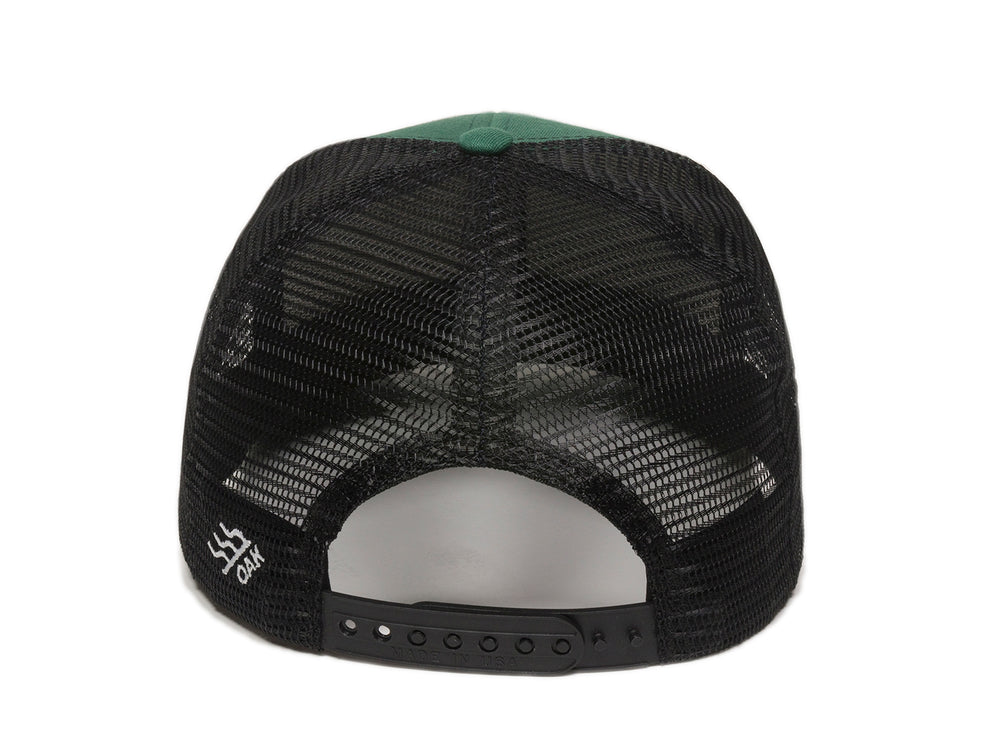 Vista Scout Patch Snapback Trucker Hat Hunter Green Back View
