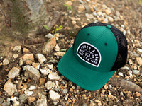 Vista Scout Patch Snapback Trucker Hat Hunter Green Lifestyle Image