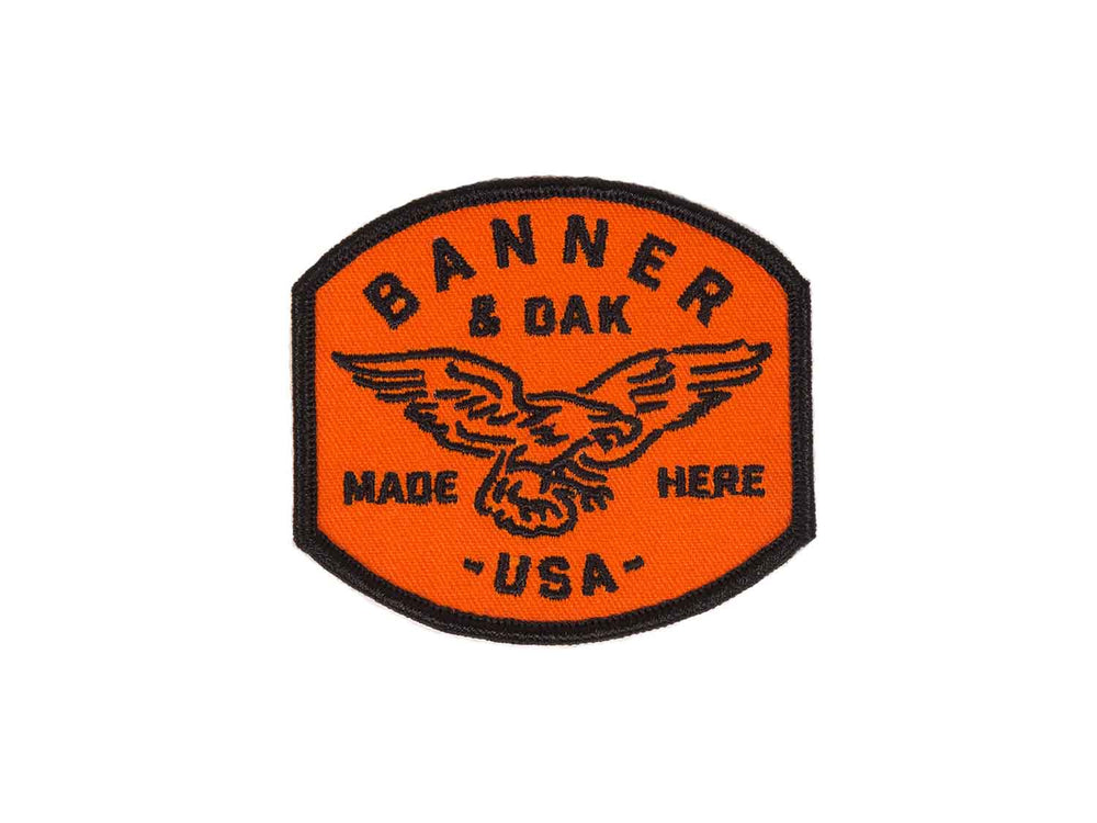 Eagle Scout Embroidered Patch Orange