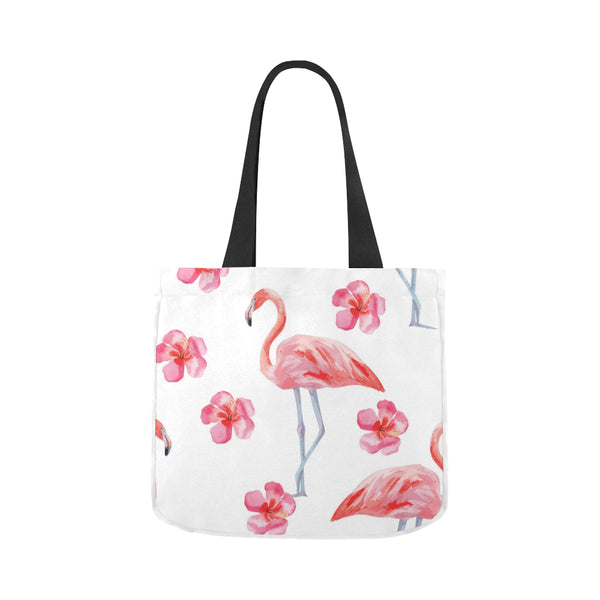 Flower Flamingos Canvas Tote Bag 02 Model 1603 (Two sides)