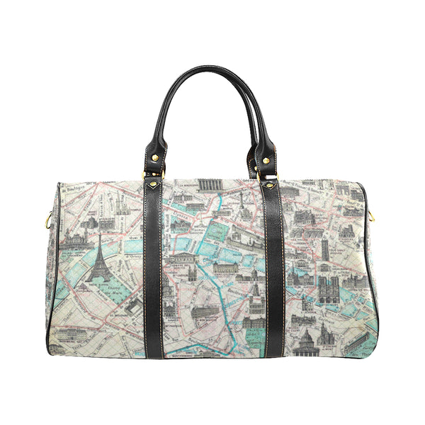 Vintage France Map New Waterproof Travel Bag/Small (Model 1639)