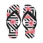 Zigzag Flamingos Flip Flops for Men/Women (Model 040)