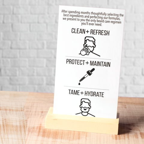 Beard Care Regimen Shelf Signage