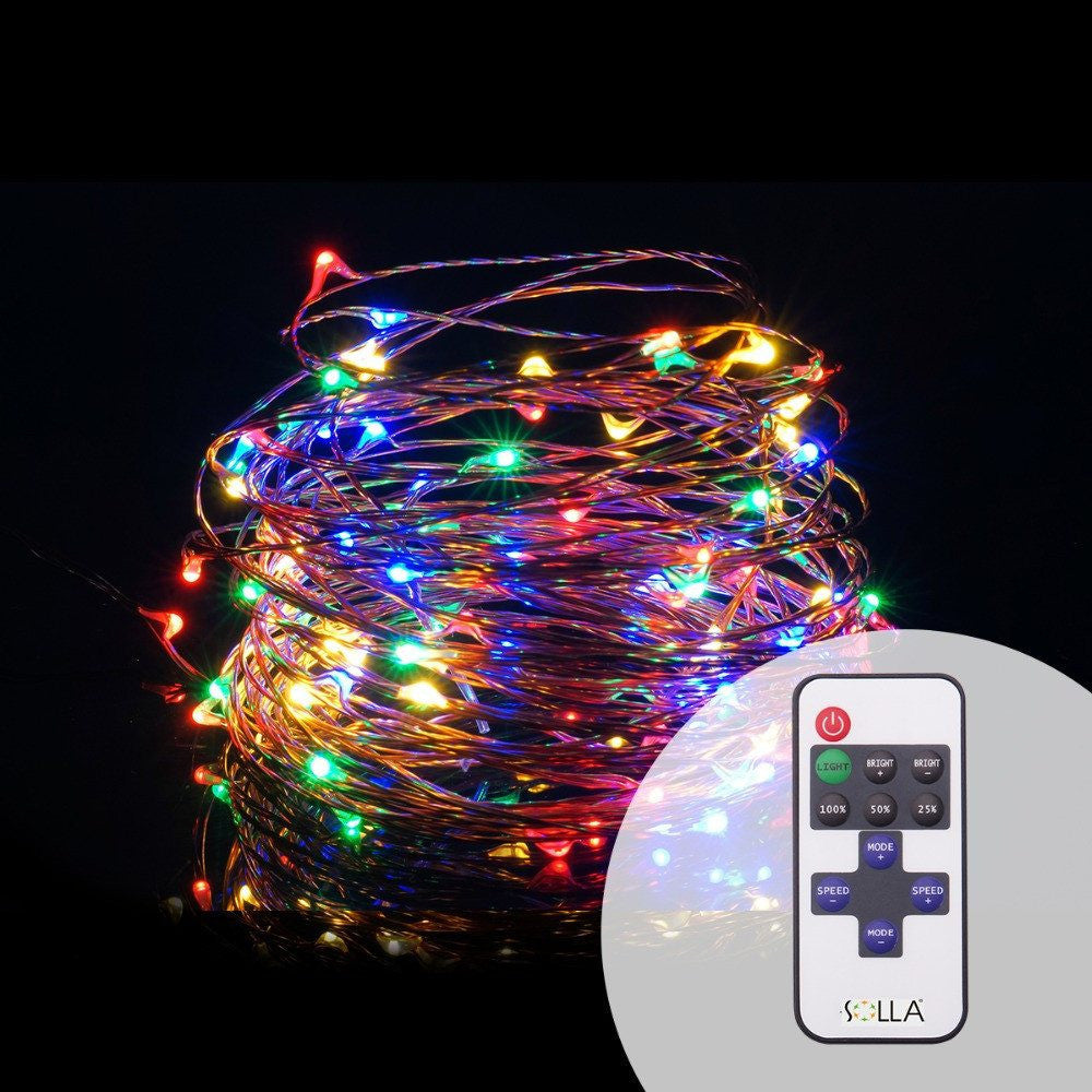promo code 52917 006b1 Plug In Fairy Lights LED String - 33Ft 100pcs - With Remote