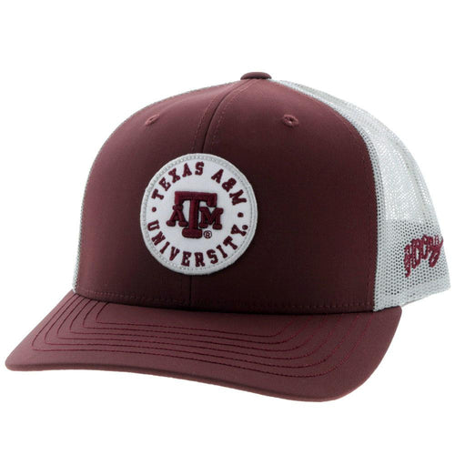 Texas A&M Aggie Trucker Snapback - Maroon & Grey
