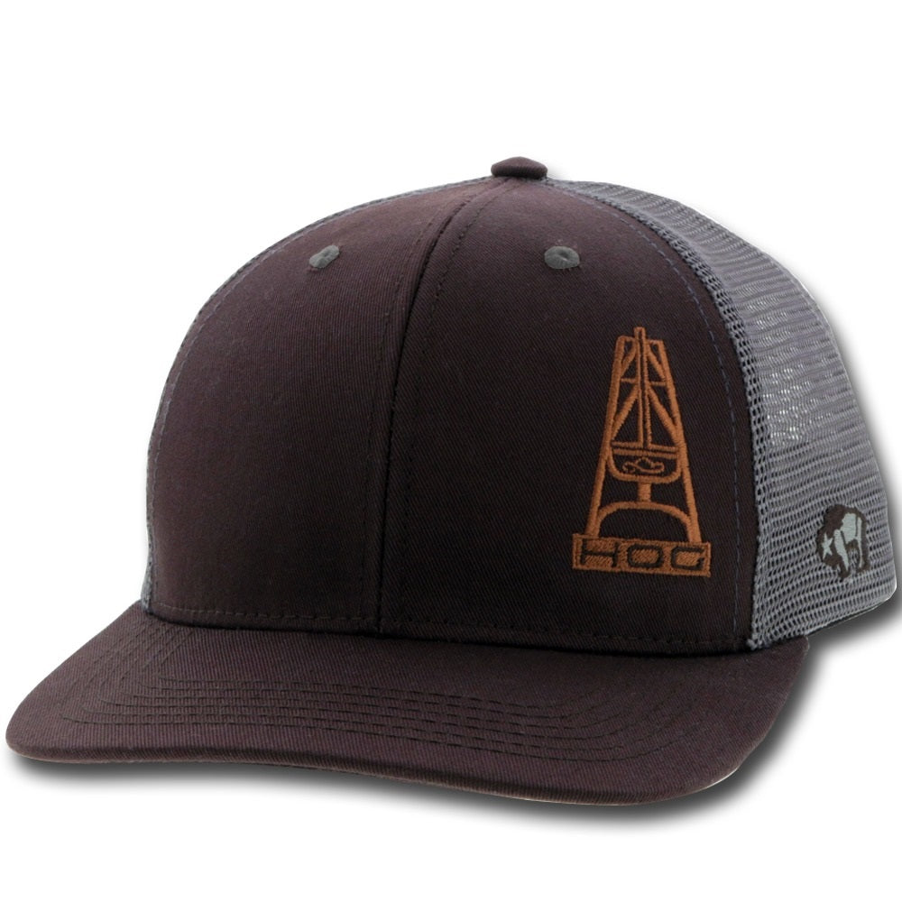 HOG Snapback - Brown & Grey