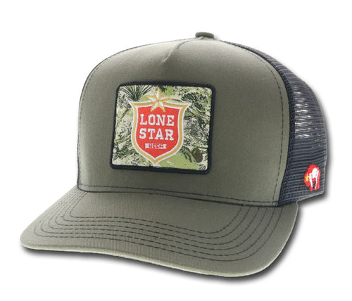 Hooey Lone Star Beer  by Hooey - Olive - Trucker
