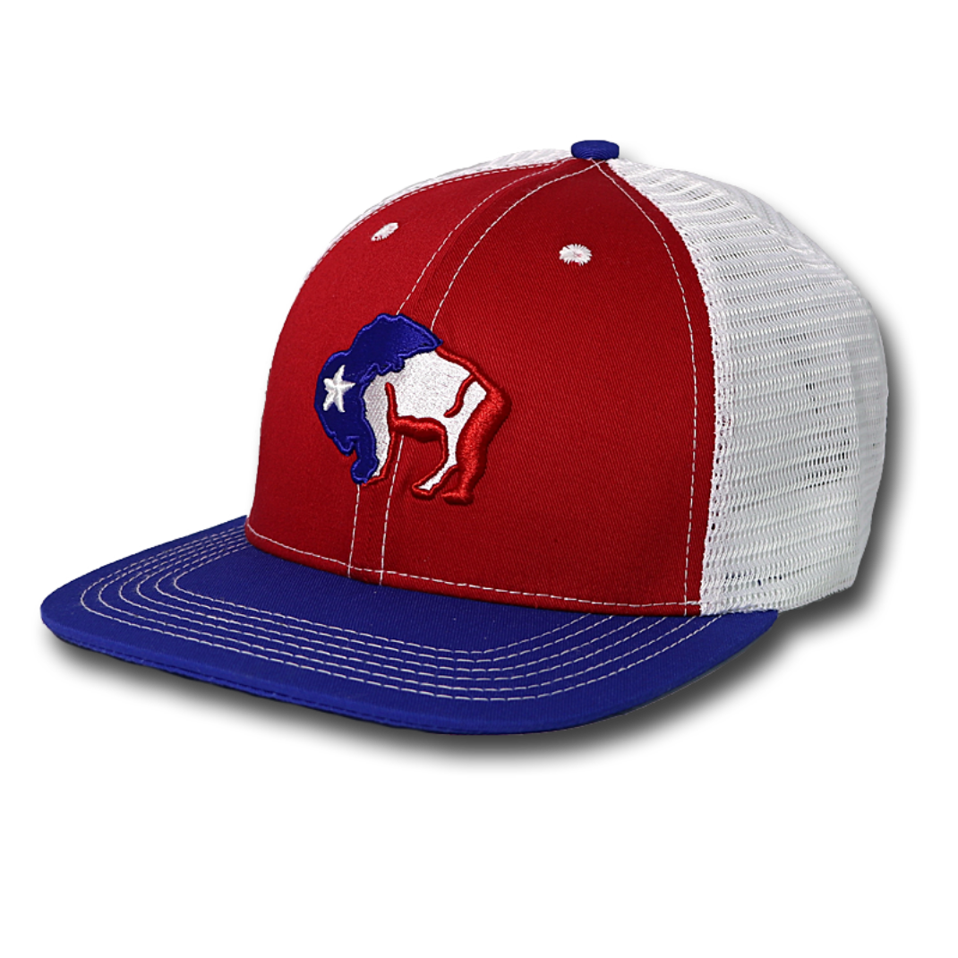 First SnapBack - Buffalo Bison Red White & Blue