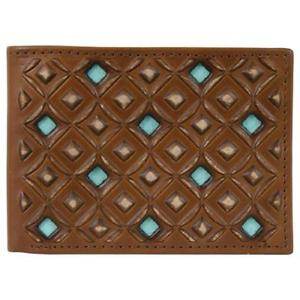 Hooey Roughy Bi fold with Light Turquoise Diamond Cut Outs