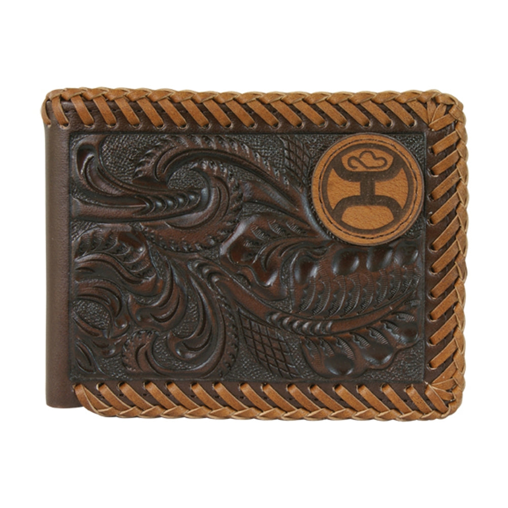 Signature Bi-fold Brown Tooling & Laced Edges