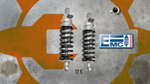 "EMC Twin Alu 2 Tri Tube 17.5"" Shocks"