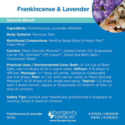 Frankincense & Lavender Essential Oil Blend - 10ml