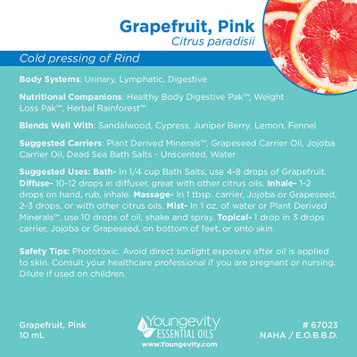 Grapefruit, Pink Essential Oil - 10ml