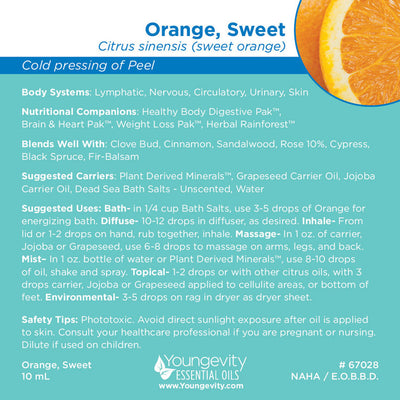 Orange, Sweet Essential Oil - 10ml