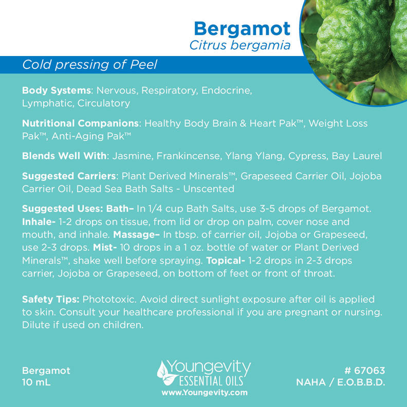 Bergamot Essential Oil 10ml Rich Minerals