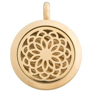 Locket Flower Gold - Diffuser Necklace