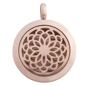 Locket Flower Rose Gold - Diffuser Necklace