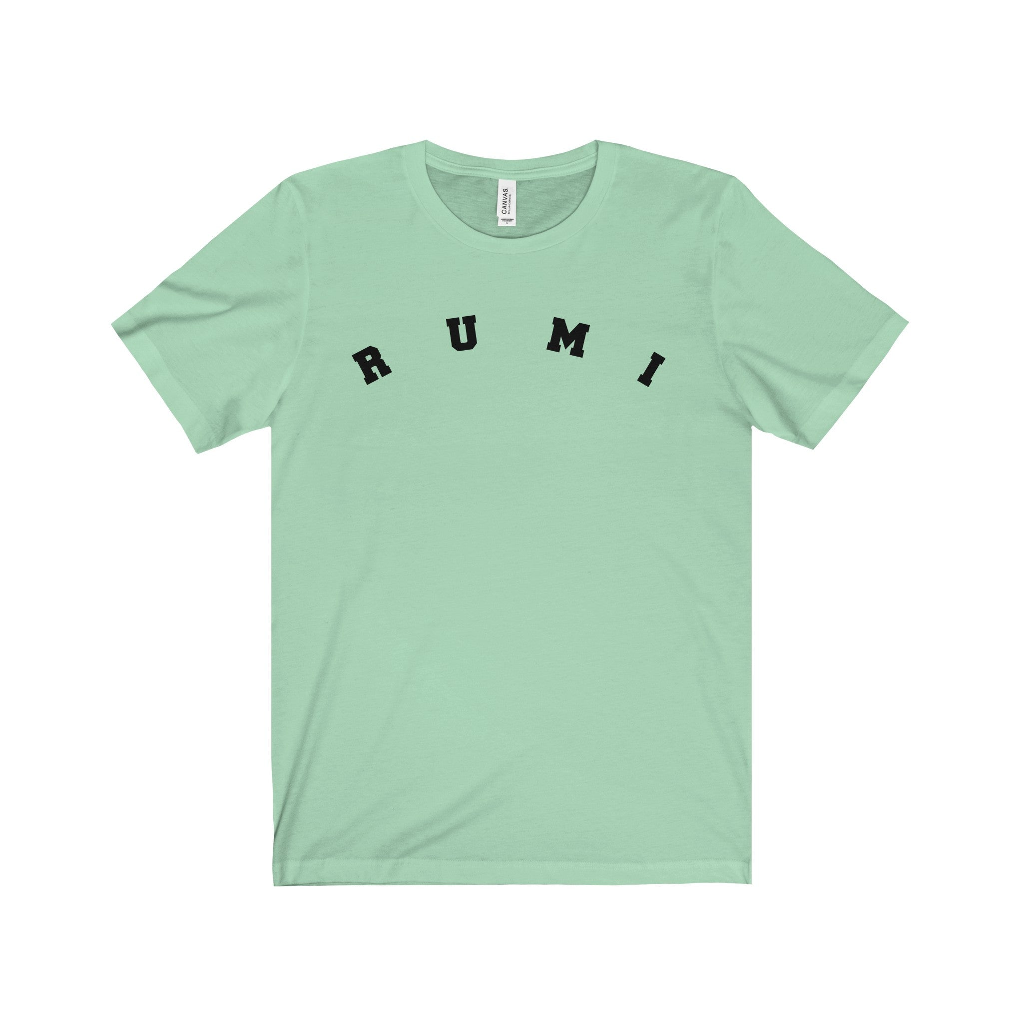 RUMI Black Letter Tee (6 colors available)