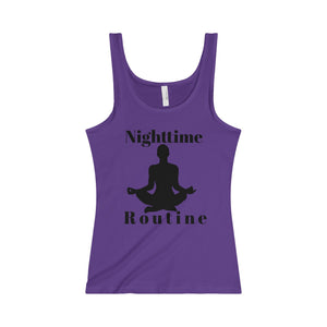 Nighttime Routine Black Letter Tank (5 colors available)