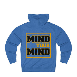 Mind&Soul Society Mind Your Mind Black and Gold Design French Terry Hoodie (11 colors available)