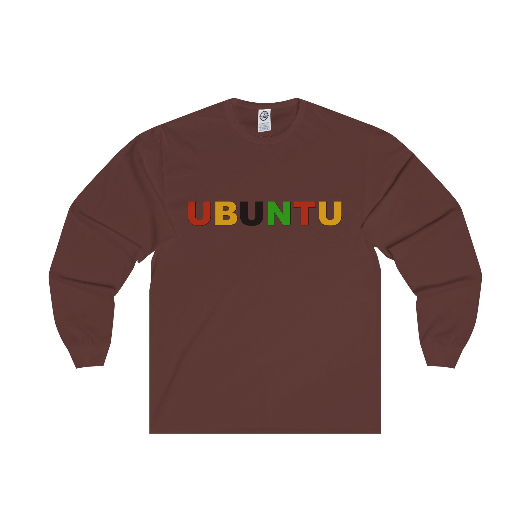 Ubuntu Multi-color Letter Long Sleeve Tee (7 colors available)