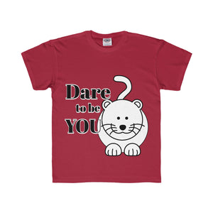 Dare to Be You Black and White Design Cat Tee (7 colors available)