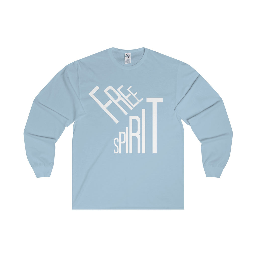 Free Spirit White Letter Long Sleeve Tee (6 colors available)