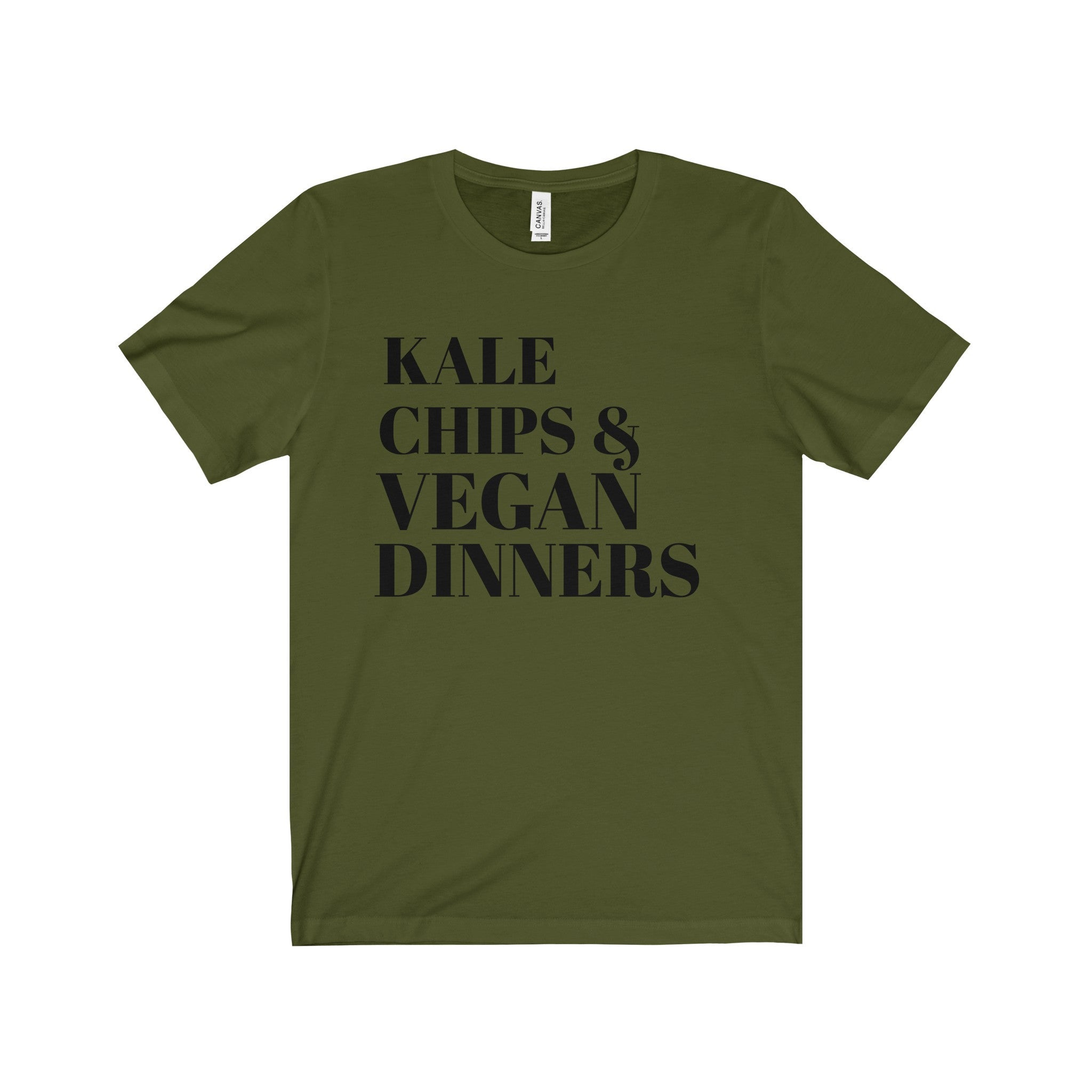 Kale Chip and Vegan Dinners Black Letter Tee (8 colors available)