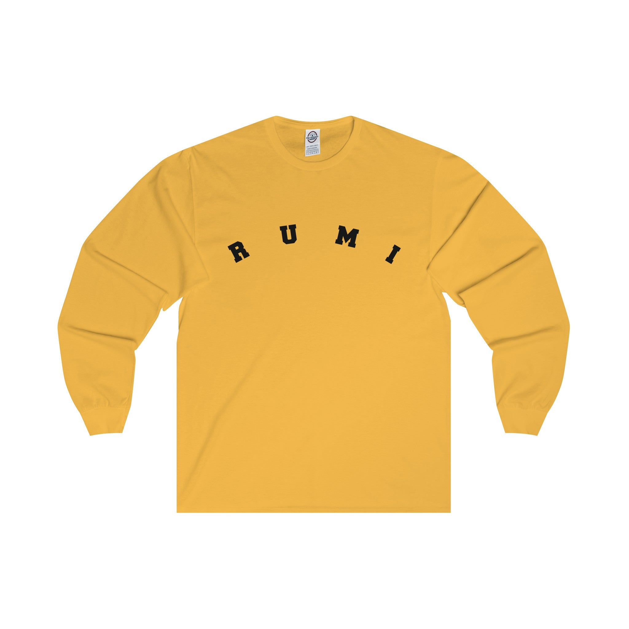 RUMI Black Letter Long-Sleeve Tee (5 colors available)