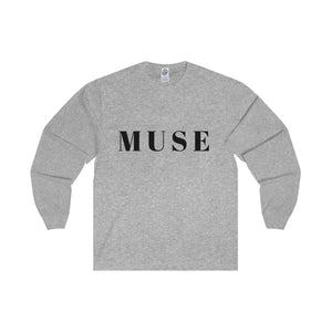 Muse Black Letter Long Sleeve Tee (5 colors available)
