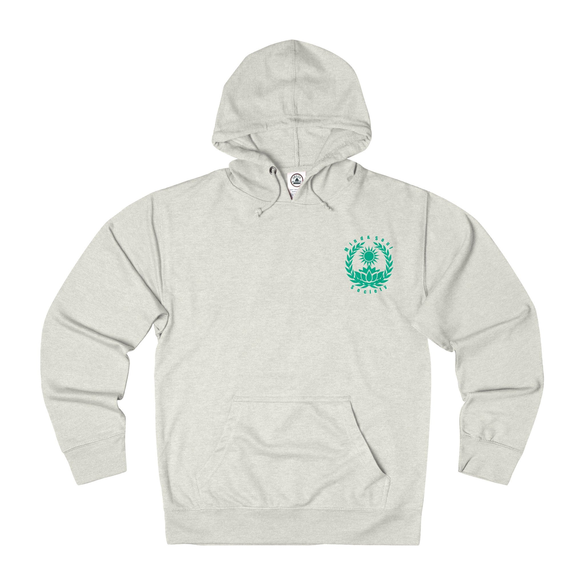 Mind&Soul Society Mind Your Mind Teal Design French Terry Hoodie (7 colors available)