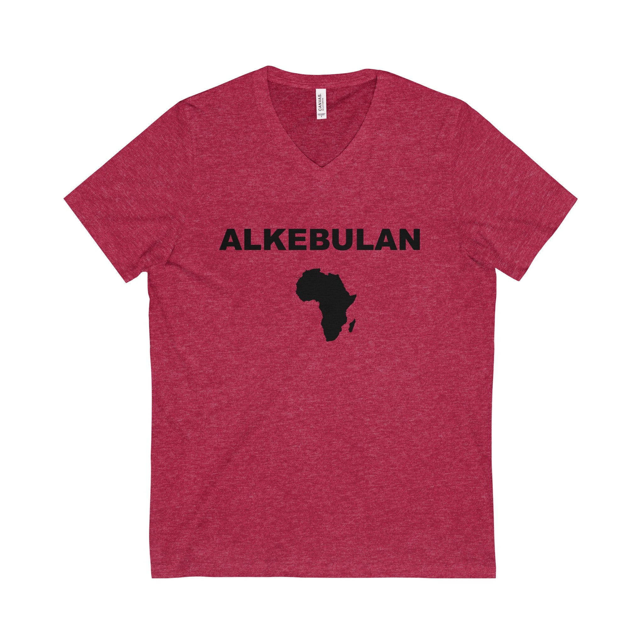 ALKEBULAN Black Letter V-Neck Tee