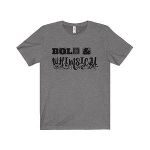 Bold and Whimsical Black Letter Tee (8 colors available)