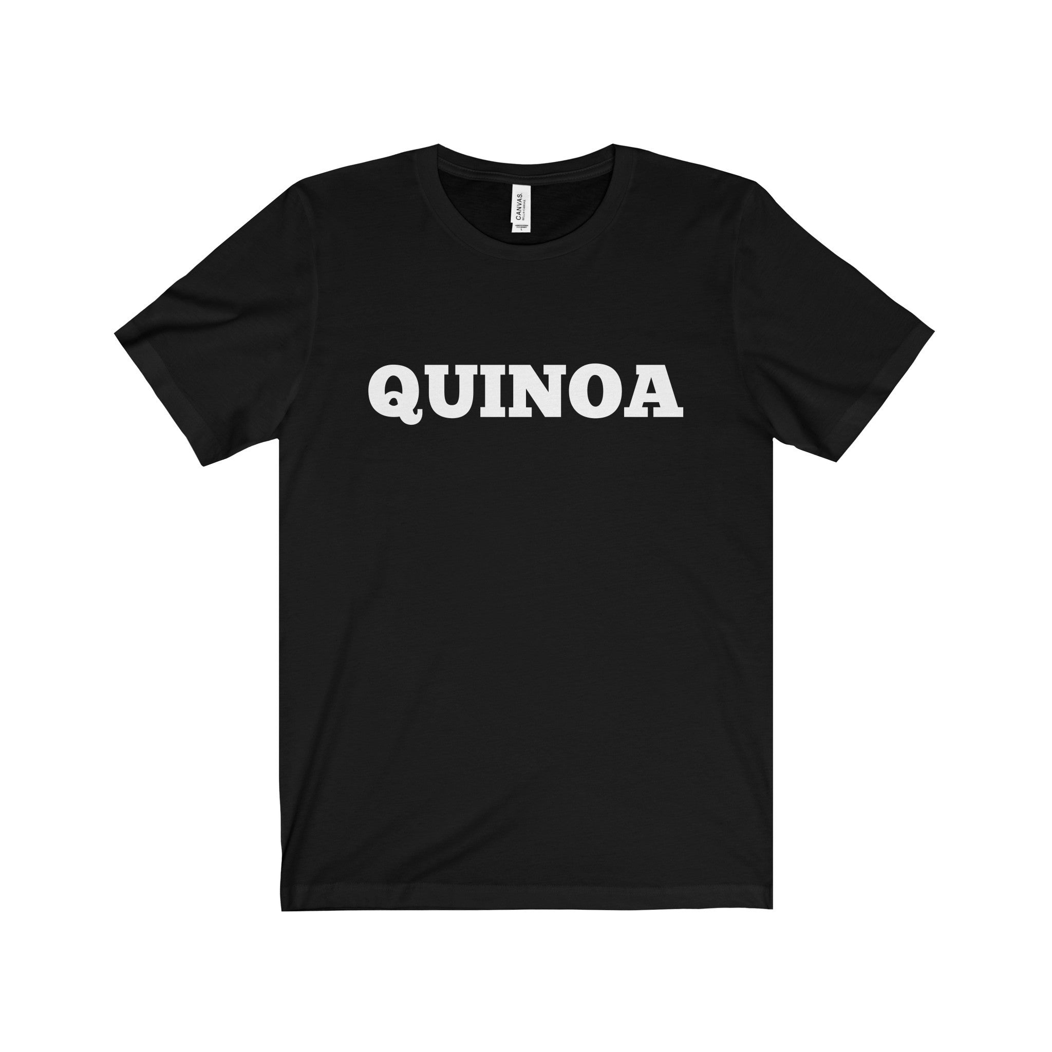 QUINOA White Letter Tee (7 colors available)