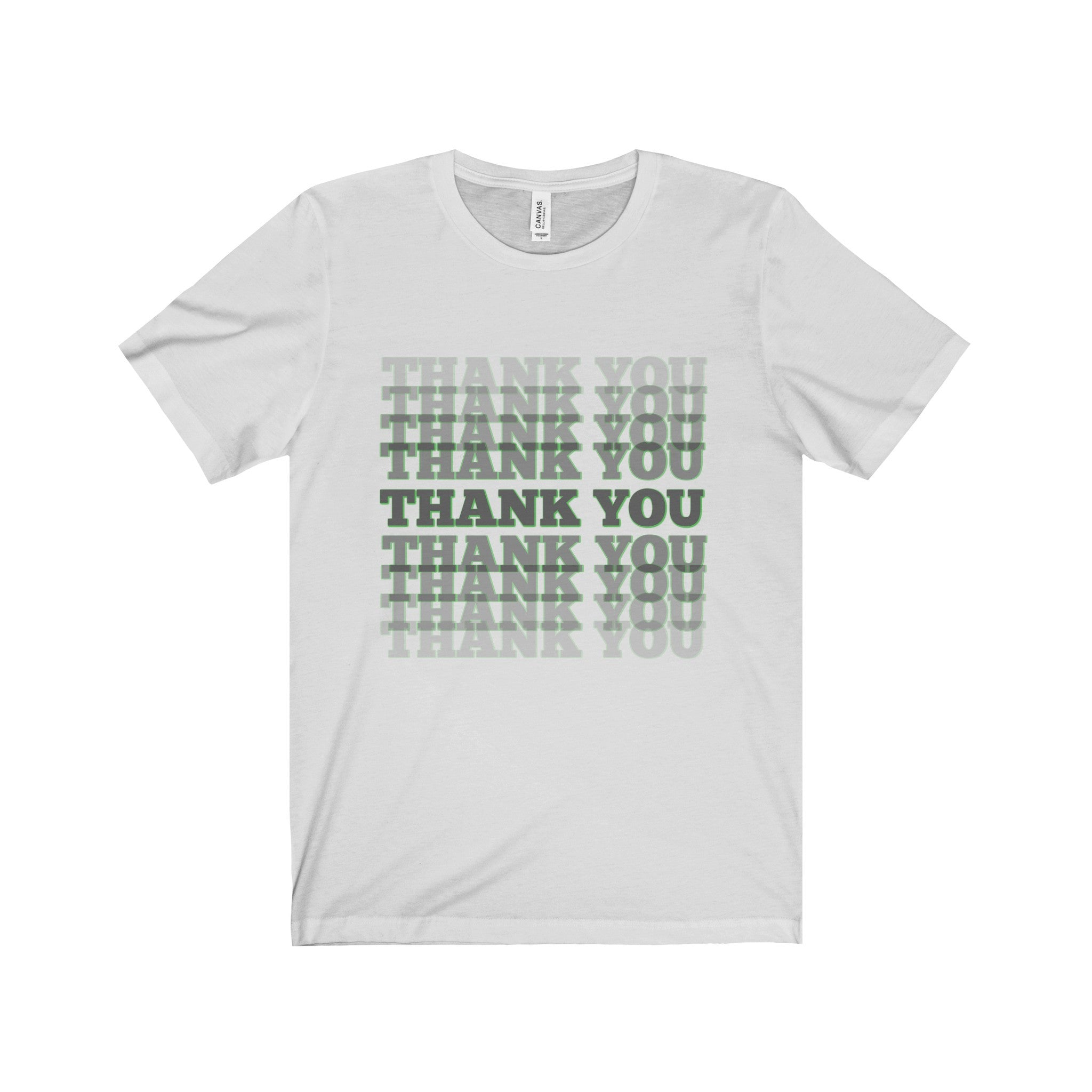 THANK YOU Black & Green Letter Tee (2 colors available)