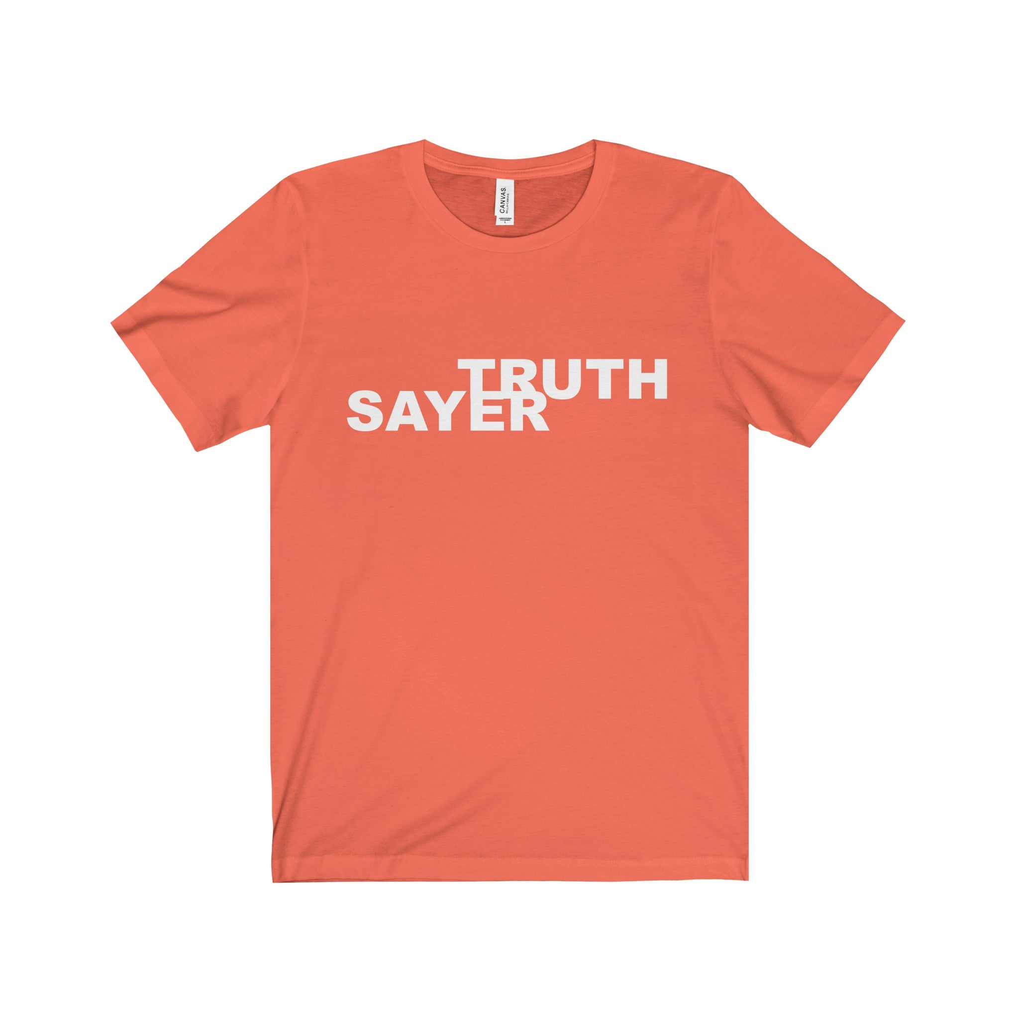 TRUTH SAYER White Letter Tee (6 colors available)