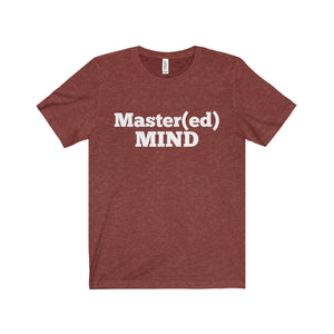 Master Mind White Letter Tee (4 colors available)