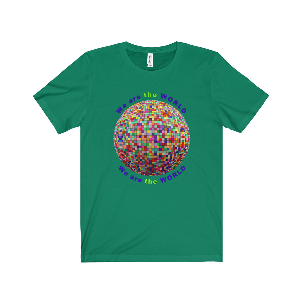 We are the World Multi-color Globe Design Tee (7 colors available)