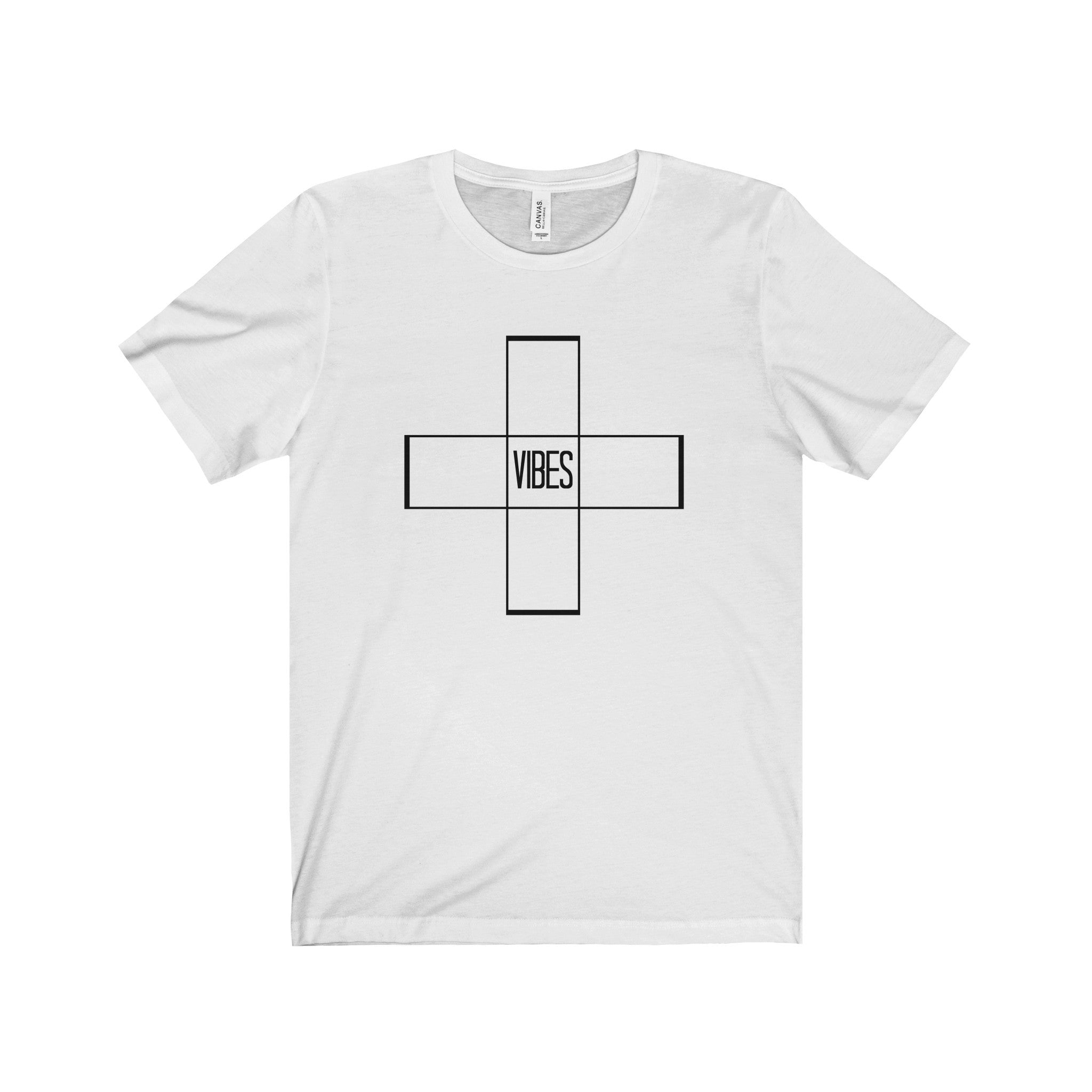 Postive Vibes Outline Black Letter Tee (5 colors available)