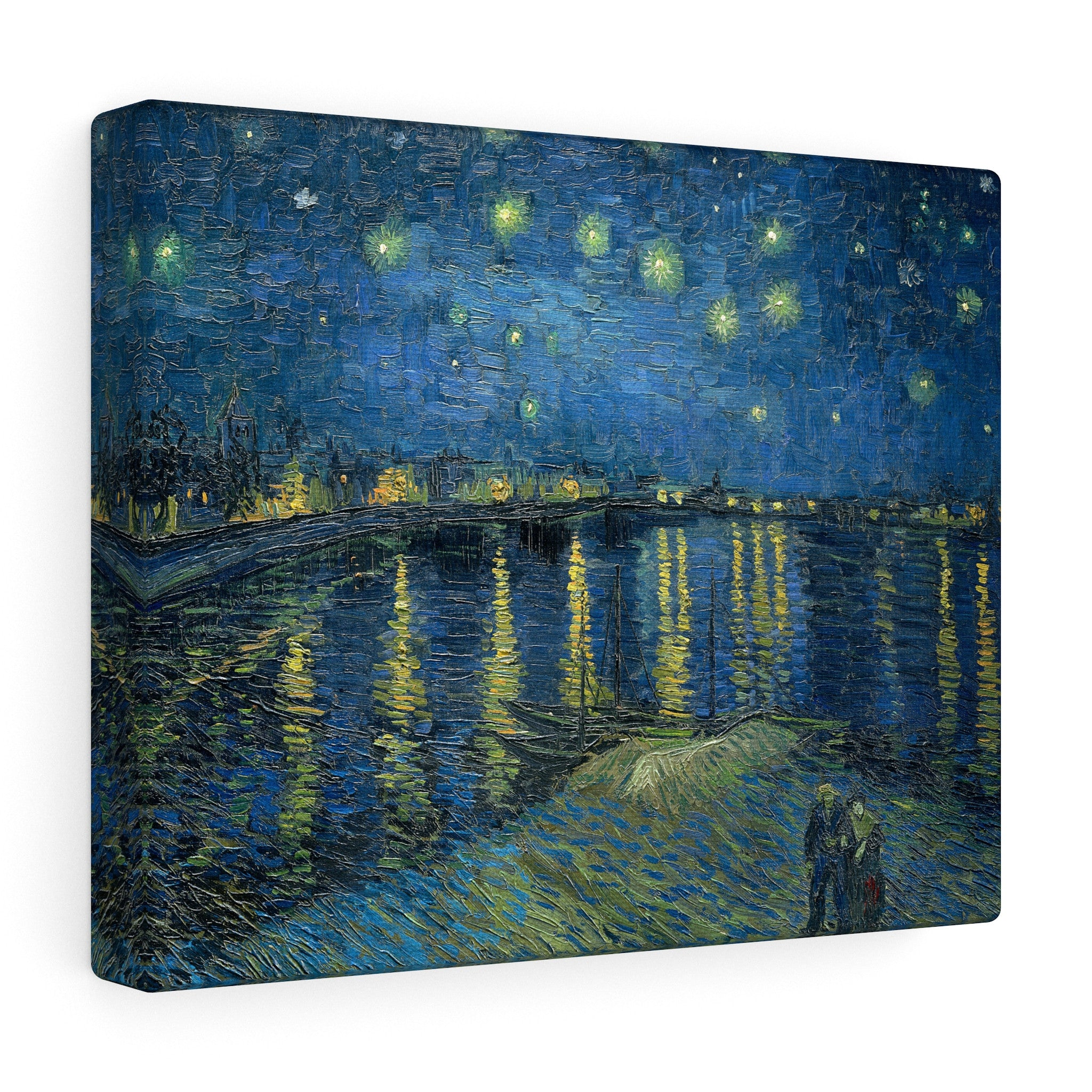 Starry Night Over the Rhone, 1888 by Vincent van Gogh Canvas