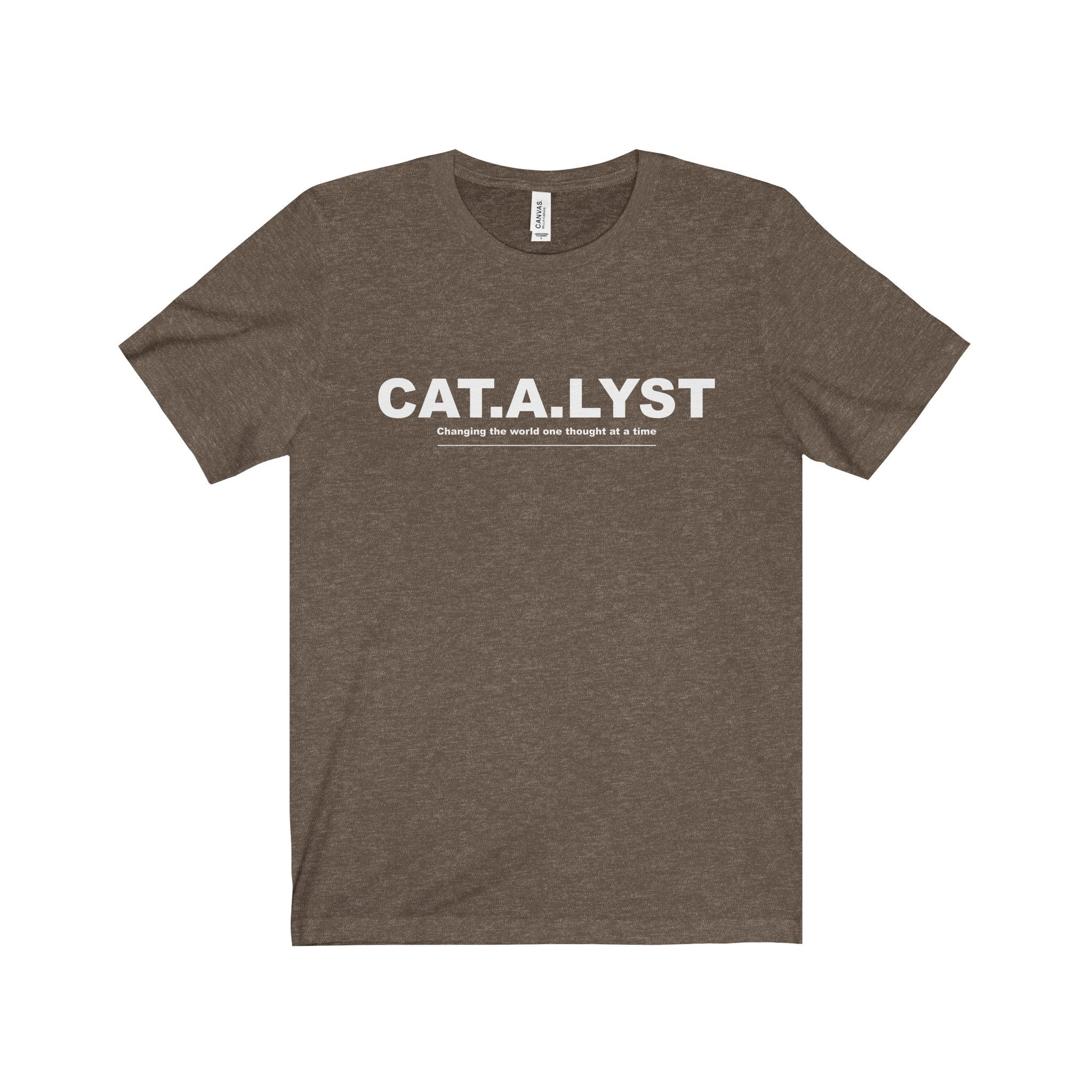 CATALYST White Letter Tee (5 colors available)