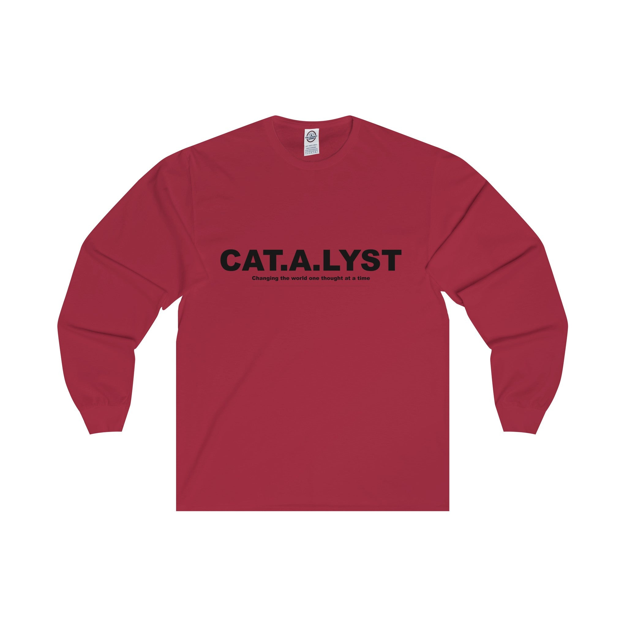 CATALYST Black Letter Long Sleeve Tee (5 colors available)
