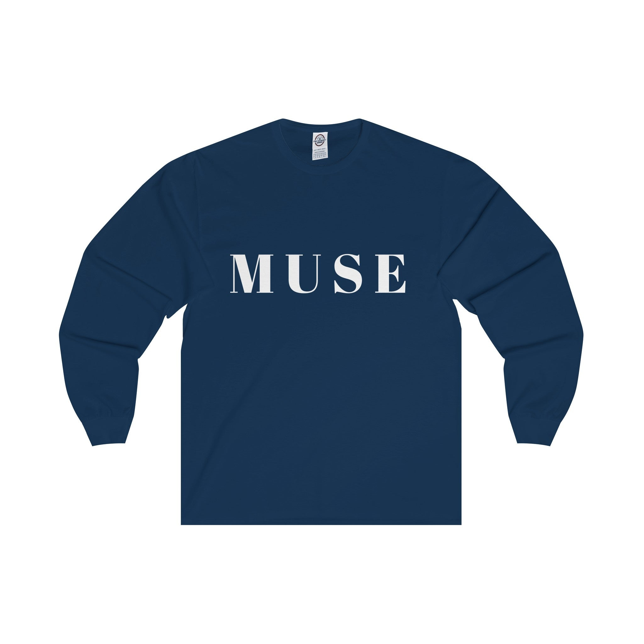 Muse White Letter Long Sleeve Tee (8 colors available)